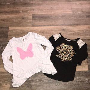 🔥Girls 10 3/4 and Long Sleeve Shirts